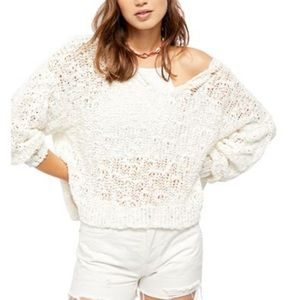 Free People Sunny Shore open weave sweater
